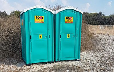 Sanitarios portatiles Playa Boxi Alicante y Denia