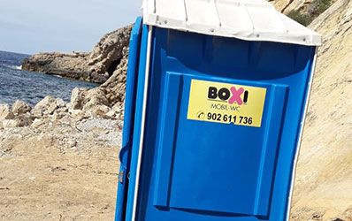 Sanitarios portatiles Playa Boxi Ibiza