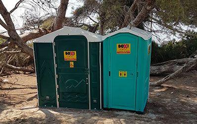 Sanitarios portatiles Playa Boxi Mallorca