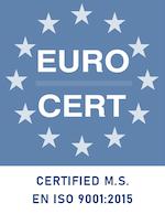 Certified ISO 9001 azul
